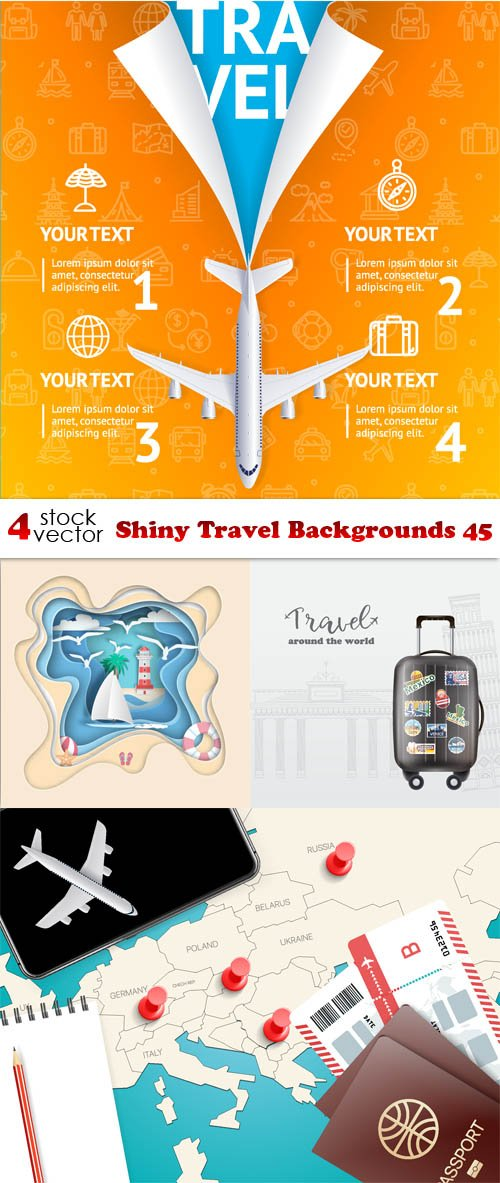 Vectors - Shiny Travel Backgrounds 45