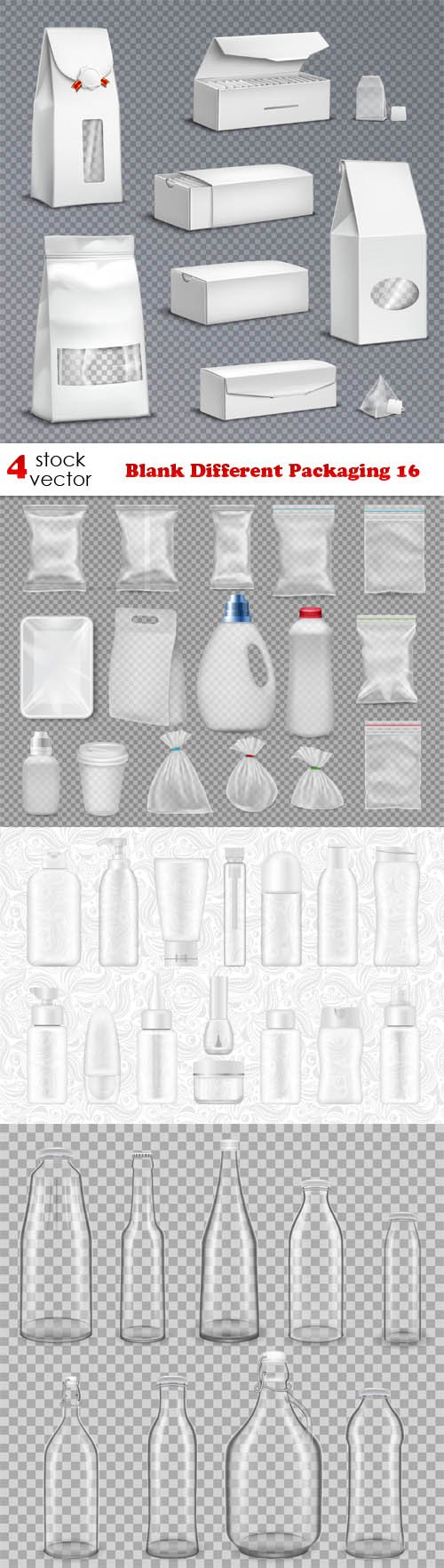 Vectors - Blank Different Packaging 16