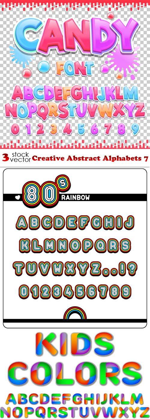 Vectors - Creative Abstract Alphabets 7