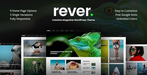 ThemeForest - Rever v1.0.2 - Clean and Simple WordPress Theme - 20364650