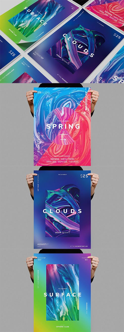 PSD Summer Poster Bundle 3