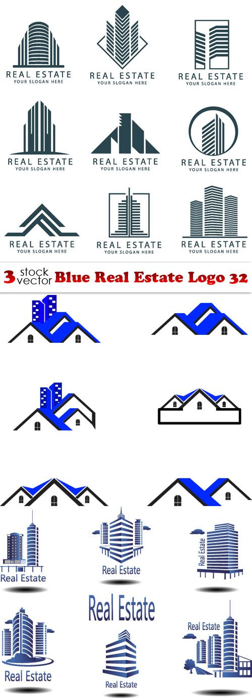 Vectors - Blue Real Estate Logo 32