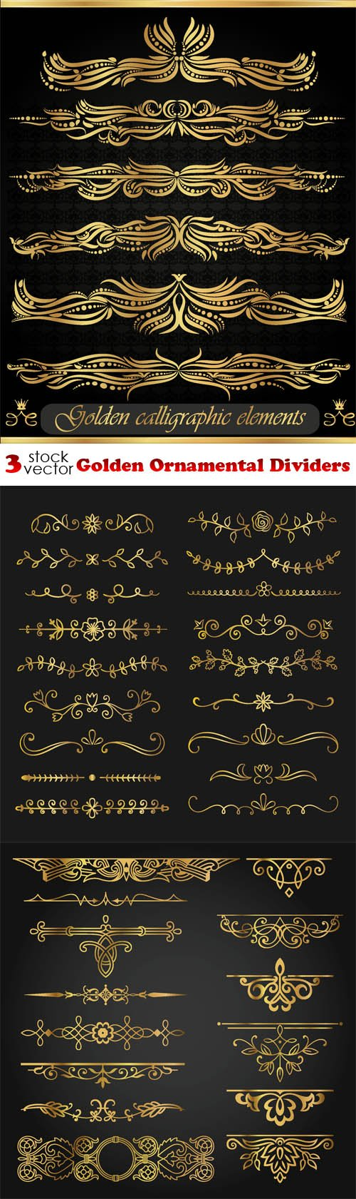 Vectors - Golden Ornamental Dividers