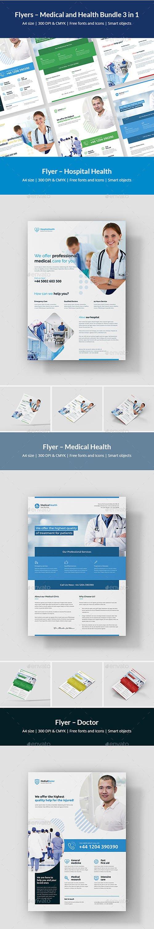 GR - Flyer – Medical and Health Bundle 3 in 1 22196220