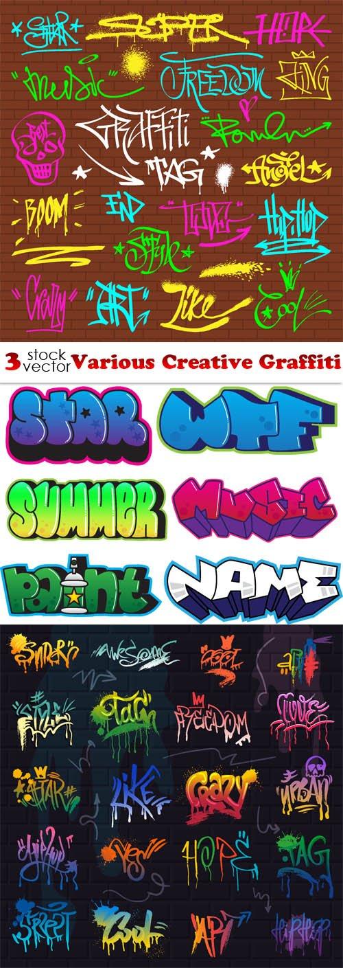 Vectors - Various Creative Graffiti
