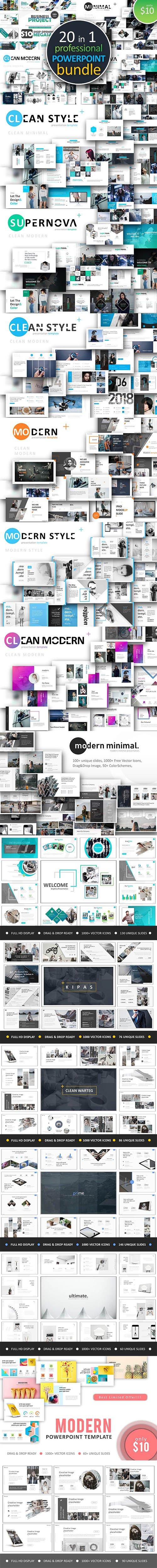 CreativeMarket - 20 in 1 Powerpoint Bundle