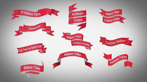 MA - 3D Ribbon Titles 92341