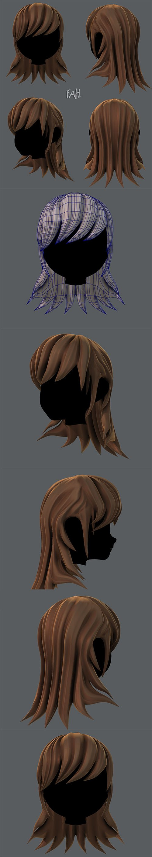 Cuberbrush - 3D Hair style for girl V04