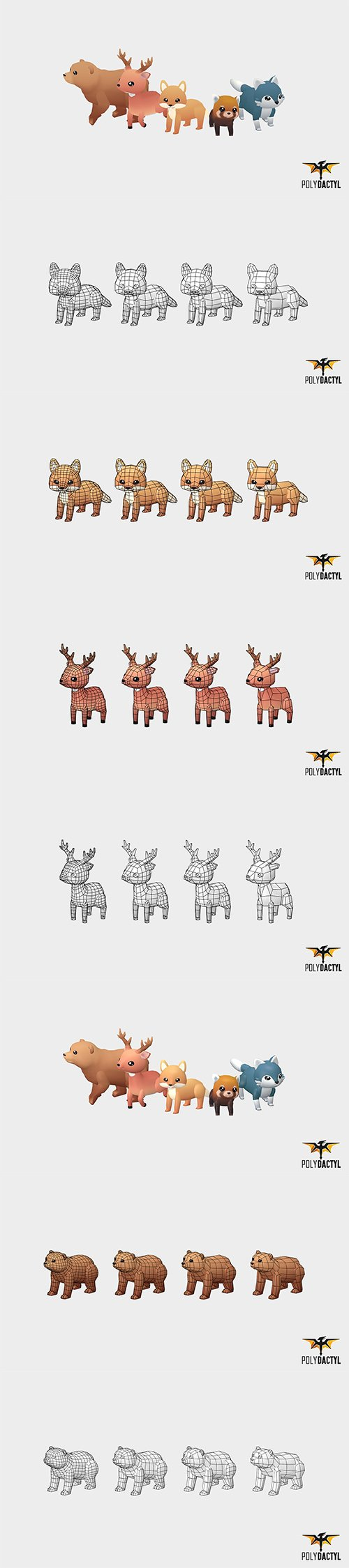 Cuberbrush - Forest Animals - Wild Series