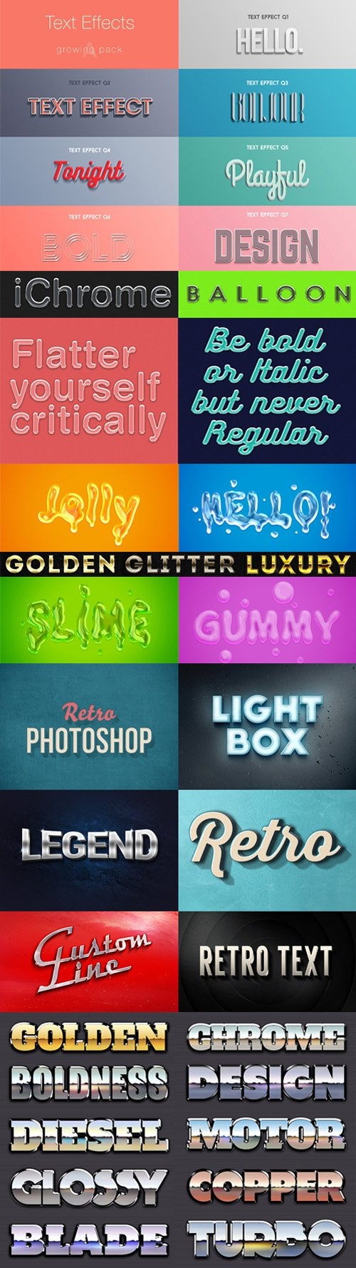 35 Photoshop Text Effects Pack [ASL/PSD]