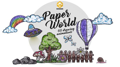 Paper World (Over 60 Drawing Animations) - Motion Graphics (Videohive)
