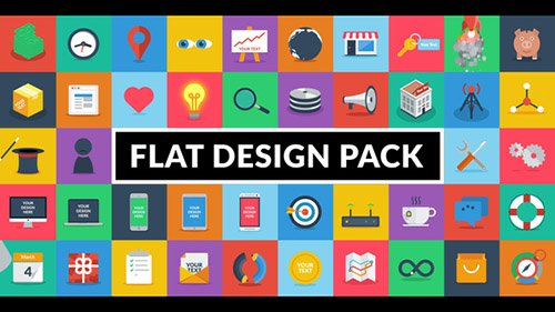 Flat Design Pack - Project for After Effects (Videohive)
