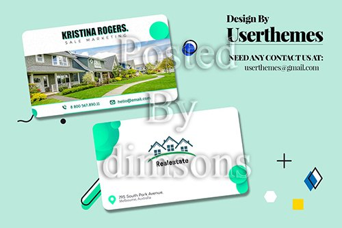 Business Visiting Card for Real Estate Template