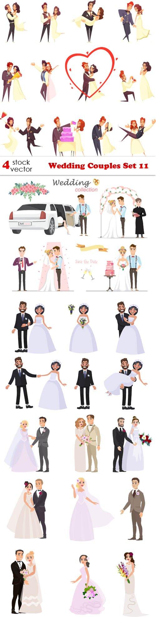 Vectors - Wedding Couples Set 11