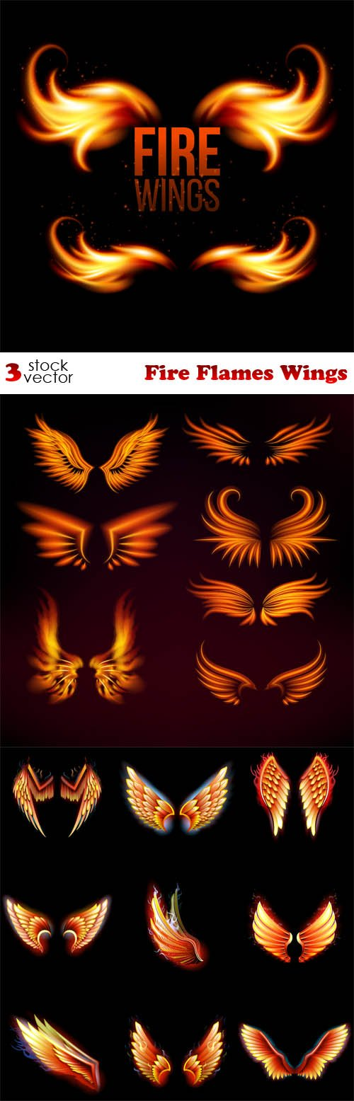 Vectors - Fire Flames Wings