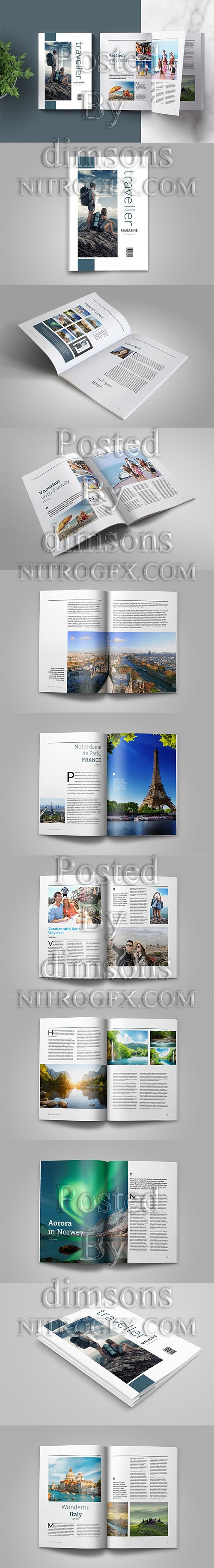 Indesign Magazine Template - Traveller