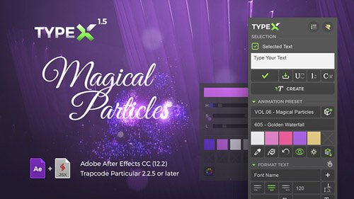 TypeX - Text Animation Tool | Magical Particles Pack: Handwritten Calligraphy Titles - Project for After Effects (Videohive)