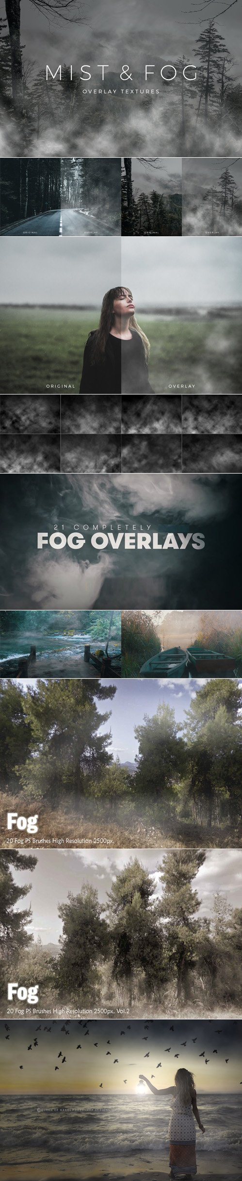 Mist & Fog Overlay [Textures/PS Brushes/4K Footages]