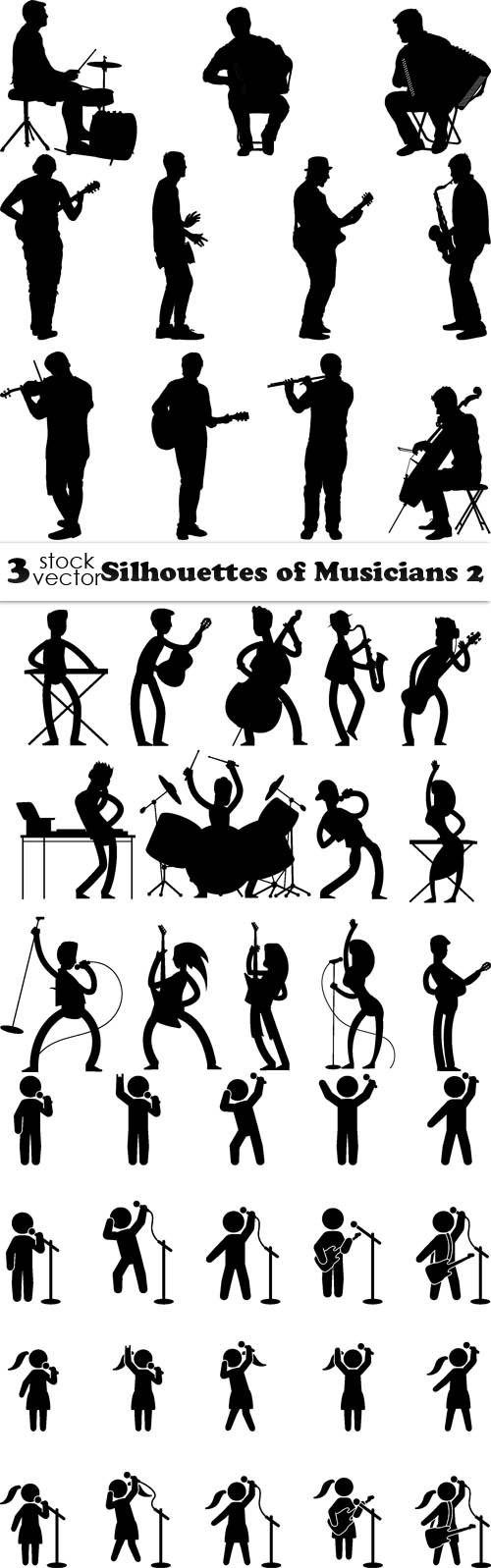 Vectors - Silhouettes of Musicians 2