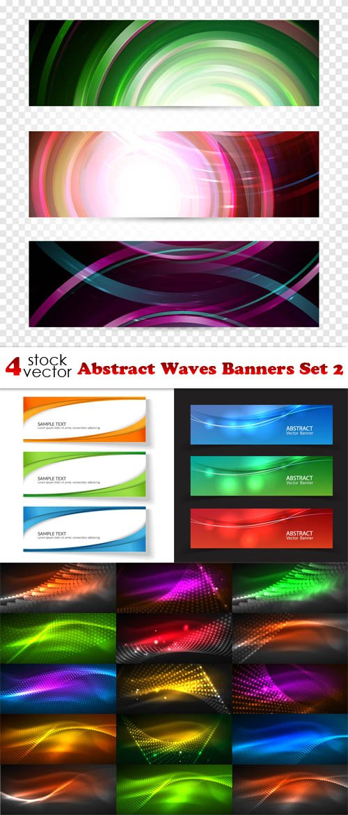 Vectors - Abstract Waves Banners Set 2