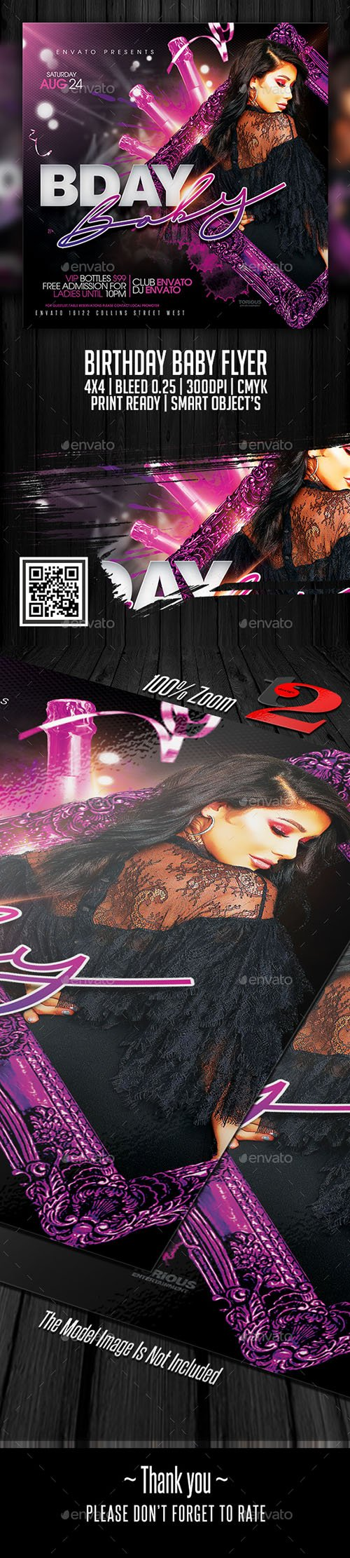 GraphicRiver - Birthday Baby Flyer Template 22381790