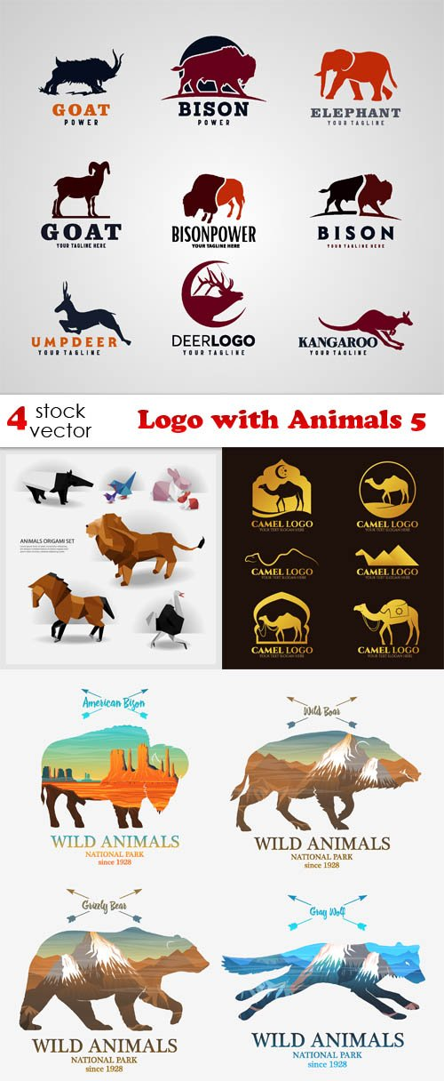 Vectors - Logo with Animals 5