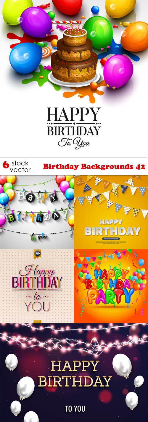 Vectors - Birthday Backgrounds 42