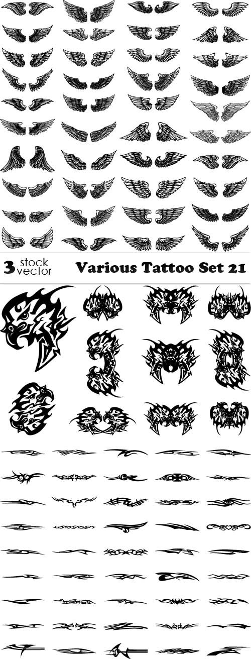Vectors - Various Tattoo Set 21
