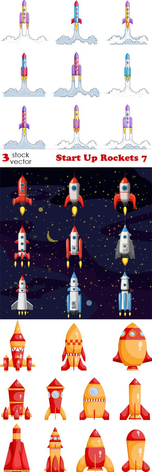 Vectors - Start Up Rockets 7