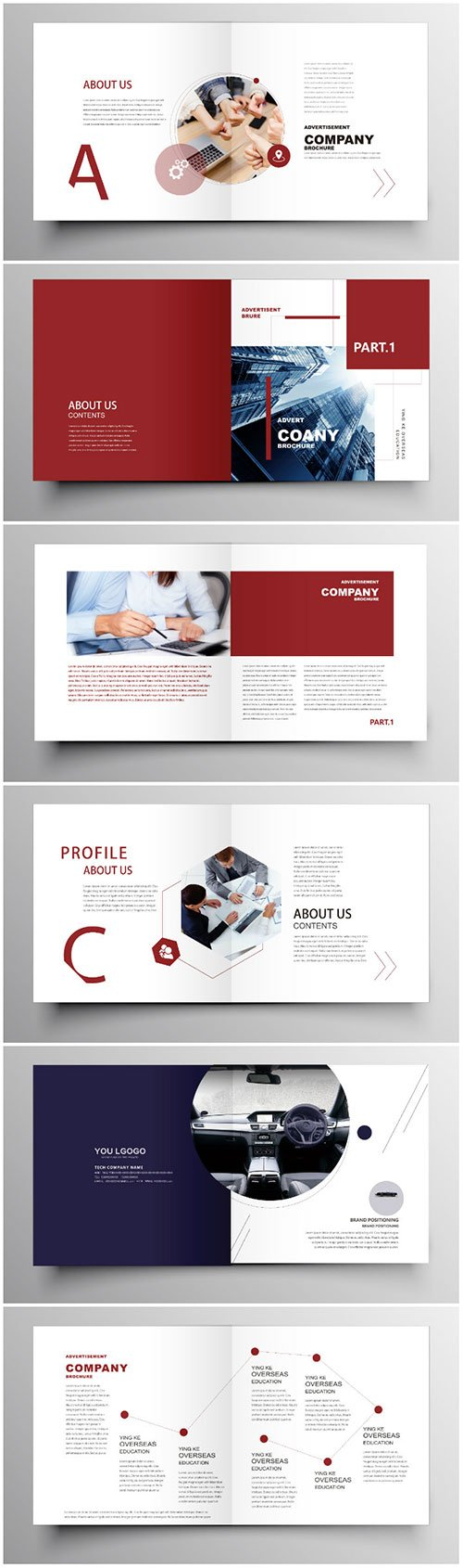 Brochure template vector layout design, corporate business annual report, magazine, flyer mockup # 190