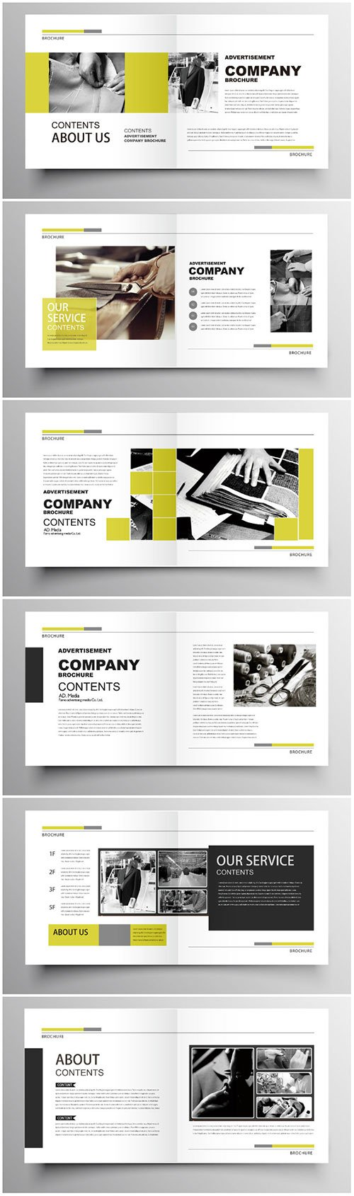 Brochure template vector layout design, corporate business annual report, magazine, flyer mockup # 189