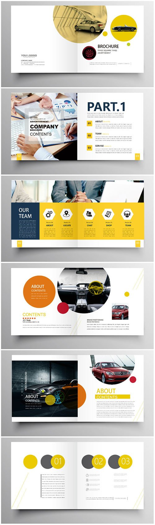 Brochure template vector layout design, corporate business annual report, magazine, flyer mockup # 188