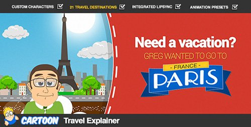 Cartoon Travel Explainer - Project for After Effects (Videohive)