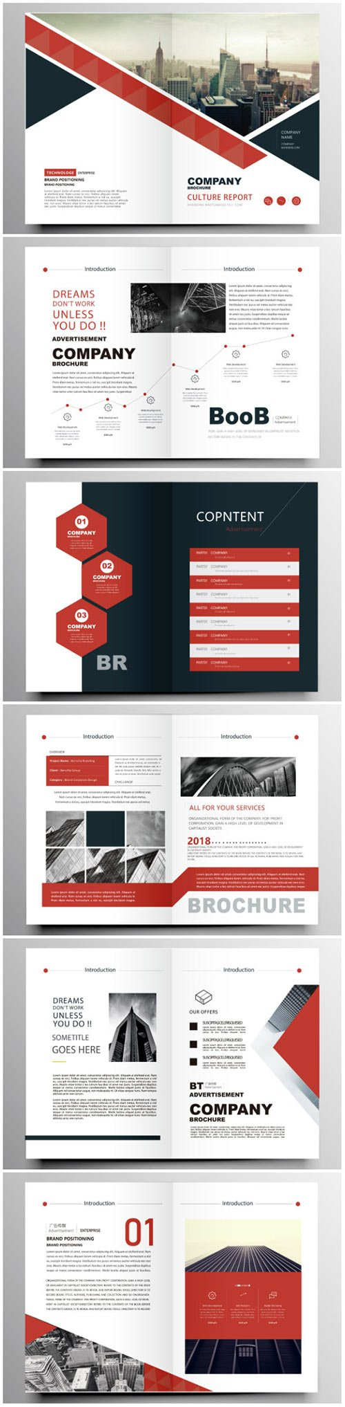 Brochure template vector layout design, corporate business annual report, magazine, flyer mockup # 199