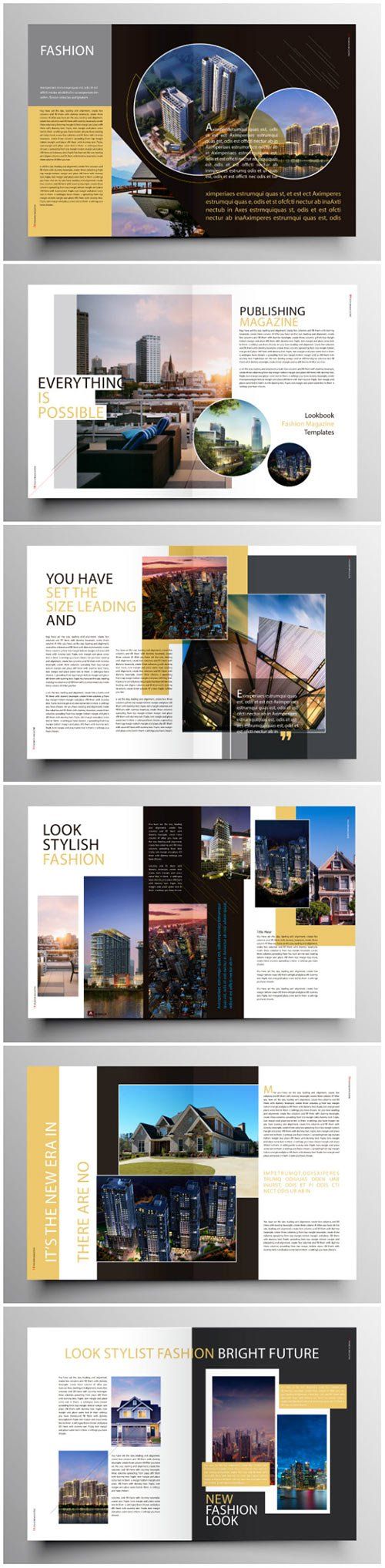 Brochure template vector layout design, corporate business annual report, magazine, flyer mockup # 196
