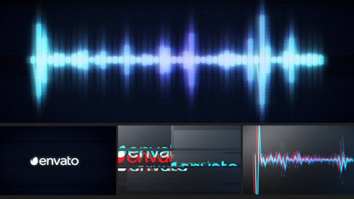 Glitch Logo Music Visualizer - Project for After Effects (Videohive)