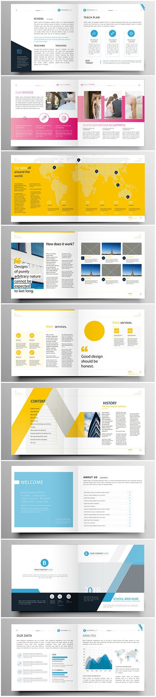 Brochure template vector layout design, corporate business annual report, magazine, flyer mockup # 206