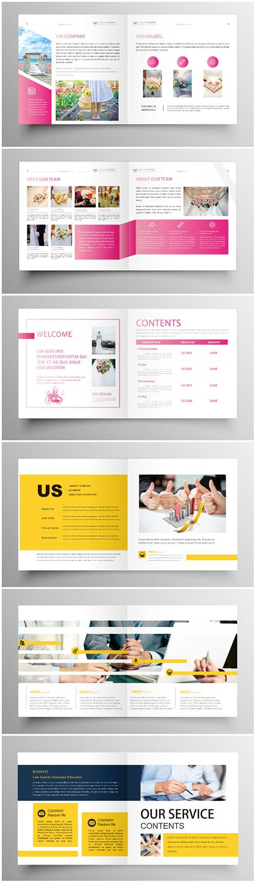 Brochure template vector layout design, corporate business annual report, magazine, flyer mockup # 205