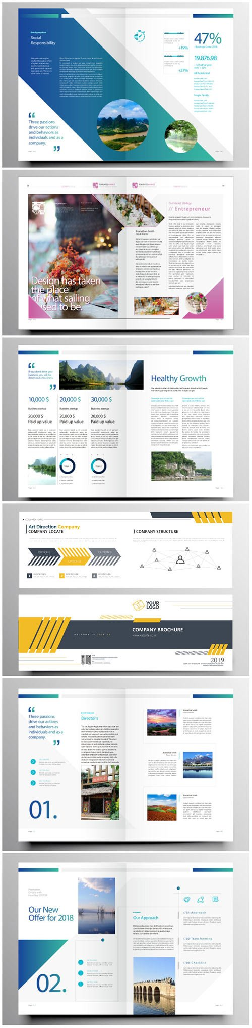 Brochure template vector layout design, corporate business annual report, magazine, flyer mockup # 207