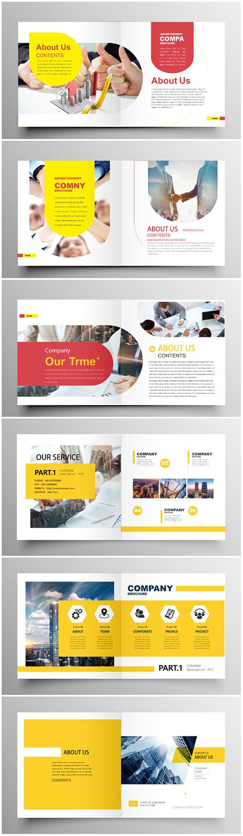 Brochure template vector layout design, corporate business annual report, magazine, flyer mockup # 204