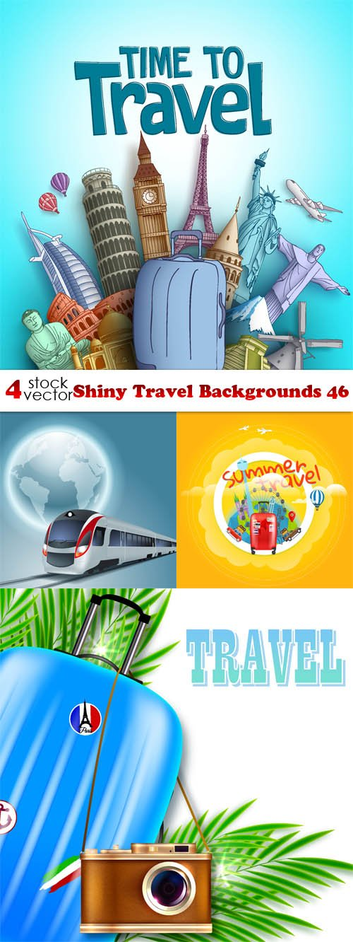 Vectors - Shiny Travel Backgrounds 46