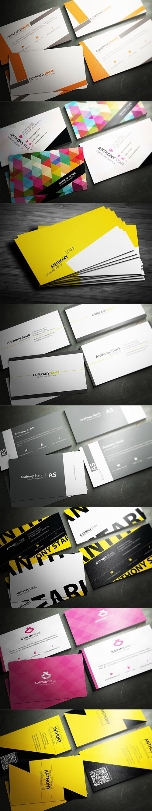 8 Business Cards Design Templates