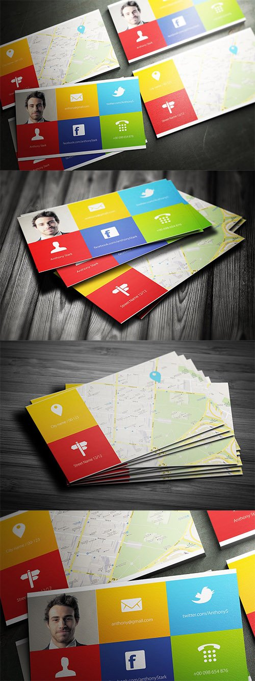 Colors Business Card Design