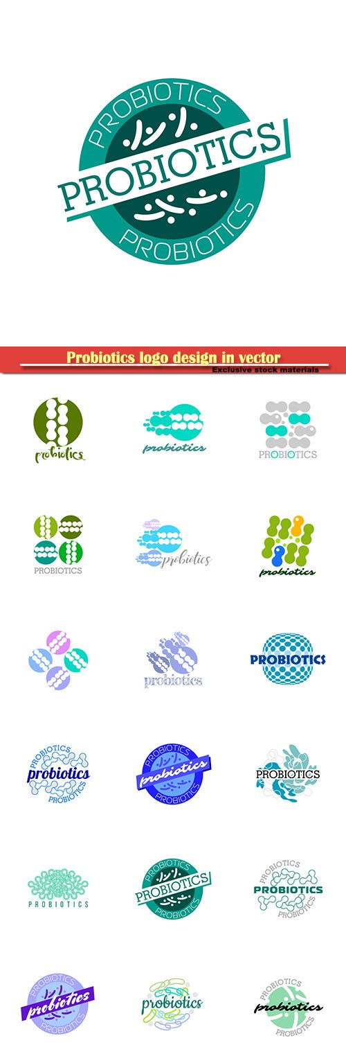 Probiotics logo design in vector illustration