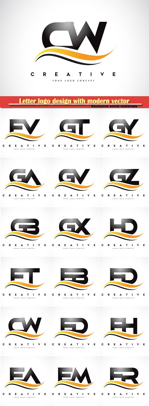 Letter logo design with modern vector illustration
