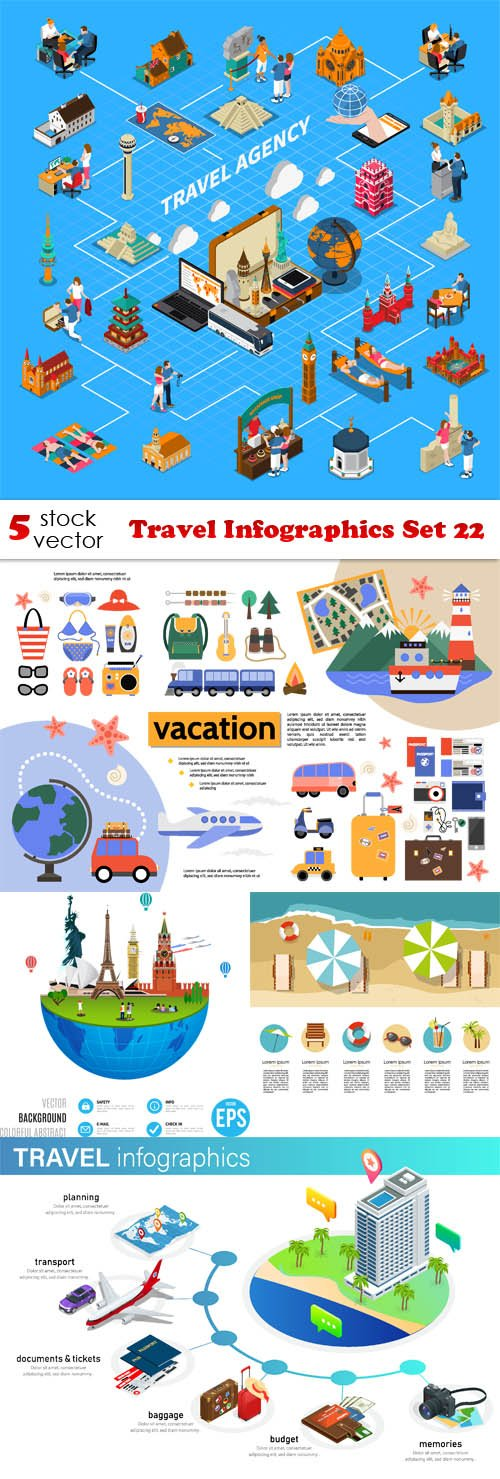 Vectors - Travel Infographics Set 22