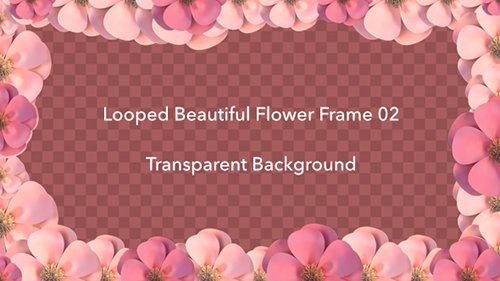 Looped Beautiful Flower Frame 02 19439988