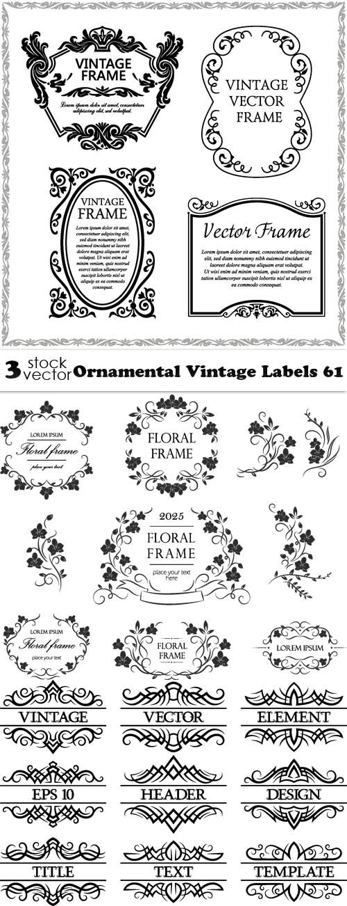 Vectors - Ornamental Vintage Labels 61