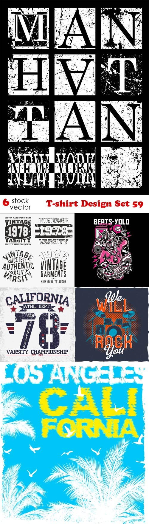Vectors - T-shirt Design Set 59