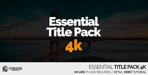 Essential Title Pack 4K - Project for After Effects (Videohive)
